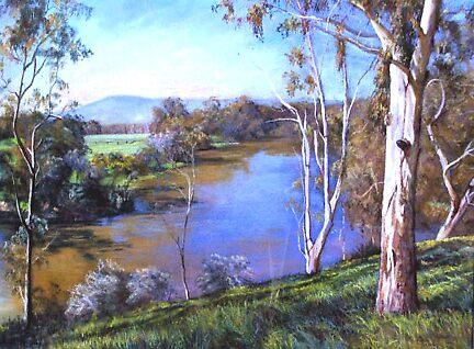 'Upstream, Manse Hill' by Lynda Robinson