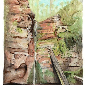 Snug Falls, Snug, Tasmania by MeaghanR