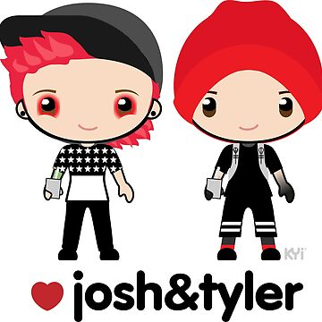 TØP Josh and Tyler chibis - Twenty One Pilots by KY-i