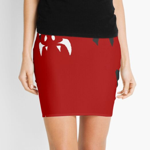 Dracmore Silhouette (Red) Mini Skirt