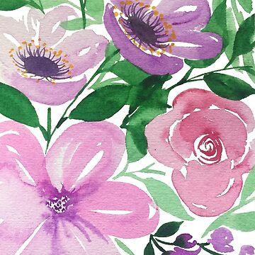 Pink and Purple Flowers - Marlene Makes by MarleneMakes