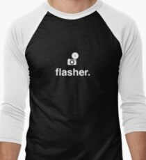 flasher. (photographer) Men's Baseball ¾ T-Shirt