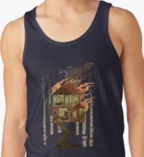 Camisetas de tirantes para hombre Casa en llamas