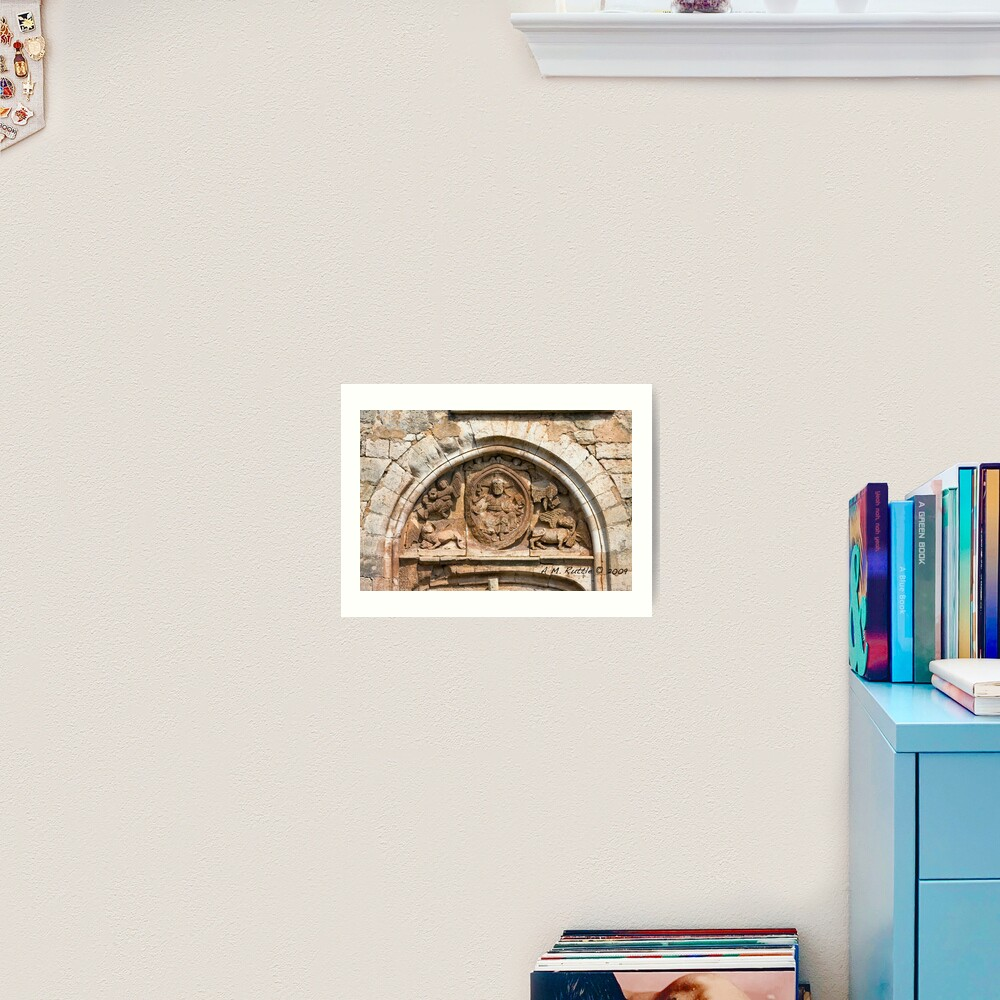Goujounac, Curious and Exquisite Tympanum Art Print