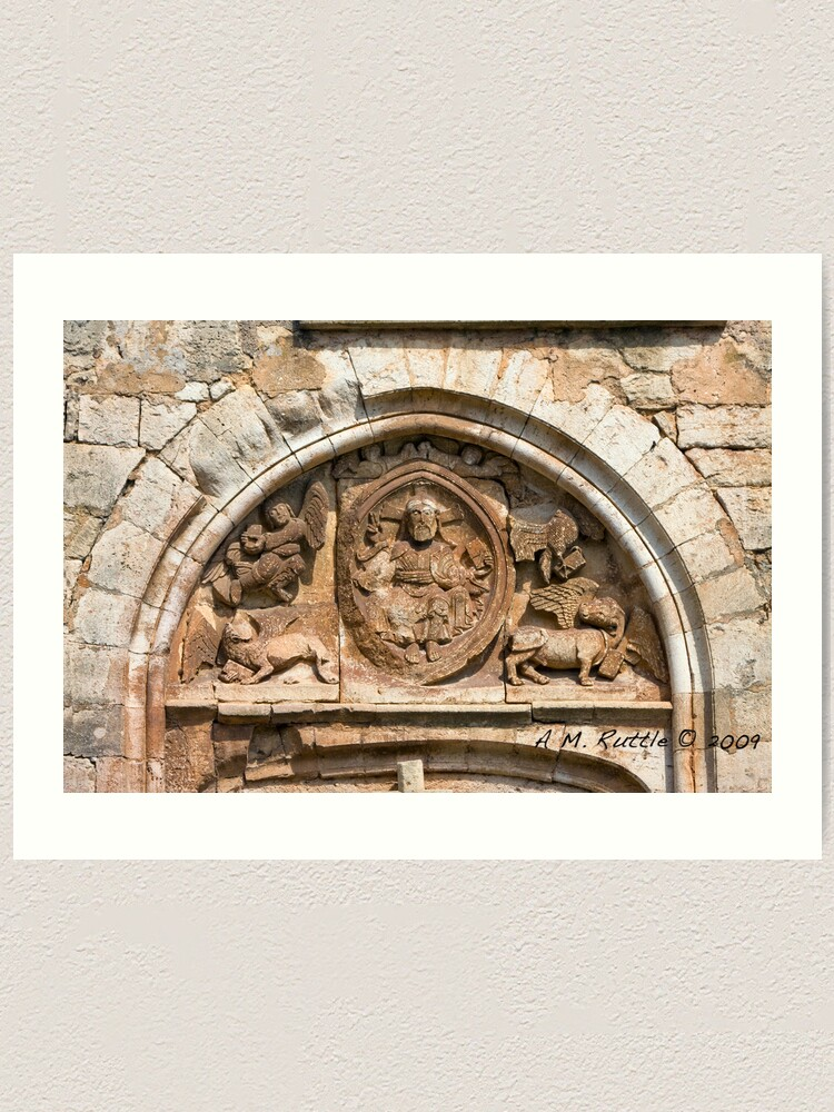 Alternate view of Goujounac, Curious and Exquisite Tympanum Art Print