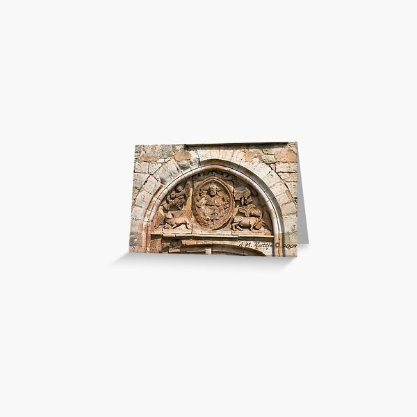 Goujounac, Curious and Exquisite Tympanum Greeting Card