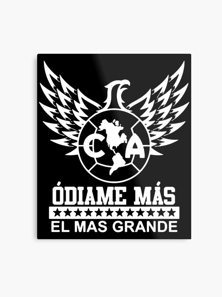 5391268bb Club America Mexico Aguilas Camiseta Jersey Odiame Mas El Mas Grande  skeleton Metal Print