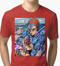 JoJo's Bizarre Adventure - Mista, Sex Pistols - Part 5 Golden Wind/Vento Aureo Tri-blend T-Shirt