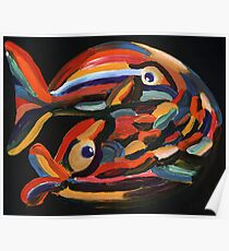 Pisces in love the Fishes Poster