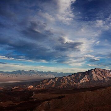 Father Crowley Vista Point. Panamint Range and Panamint Valley. by alex4444
