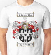Peterson Family Crest / Peterson Coat of Arms T-Shirt Unisex T-Shirt
