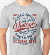 vintage since october 1978 Slim Fit T-Shirt