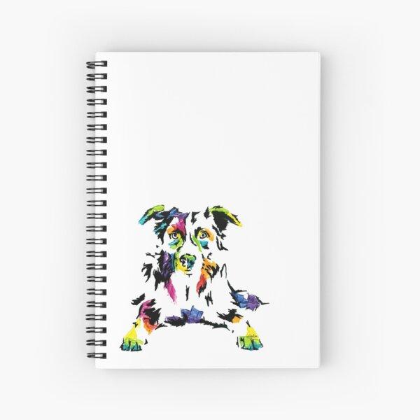 Mac I the Border Collie *dark Spiral Notebook