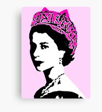 The Queen and pop art feminism  Canvas Print