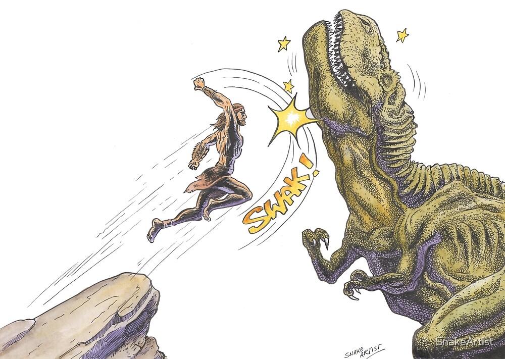 Dino Puncher - T-Rex Upper Cut by SnakeArtist