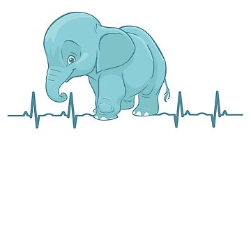 Elephant Heartbeat Elephants Kids Women Man Boy Girl by gdxz