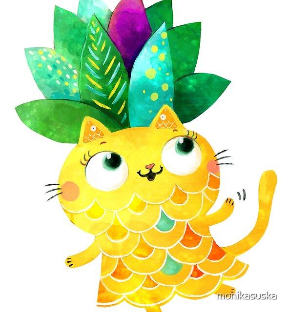 « Chat d'ananas » par monikasuska