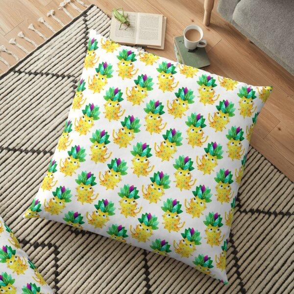Pineapple cat Floor Pillow