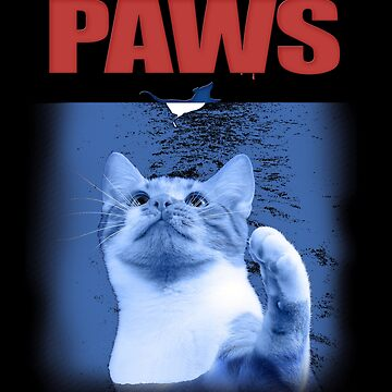 Cat and Mouse Paws T Shirt Cute cat for movie lovers as a gift idea by MrTStyle
