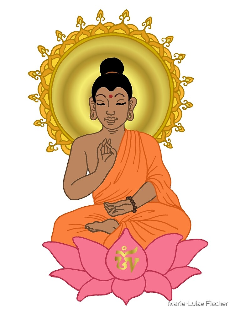 Buddha in Lotus by Marie-Luise Fischer