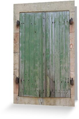 Rustic French Window Shutters by StephanieJne