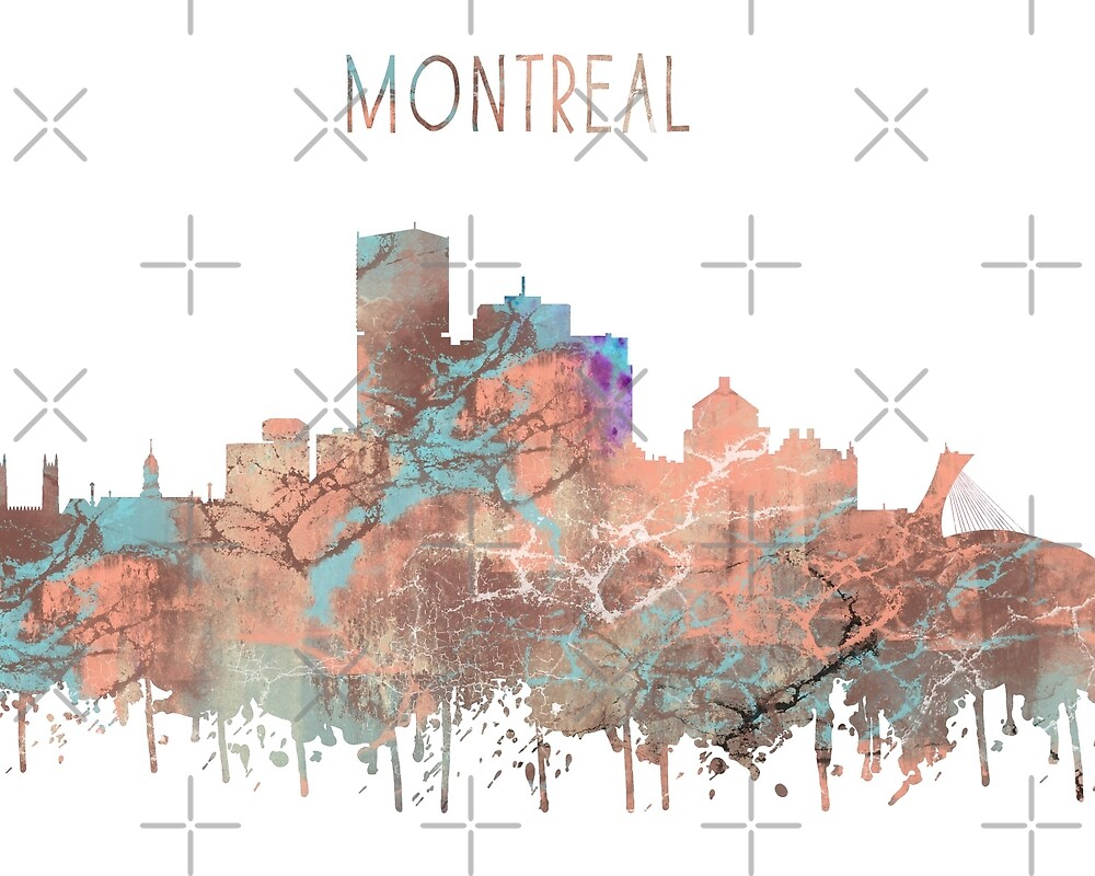 Montreal, Montreal skyline, watercolor Montreal by Rosaliartbook