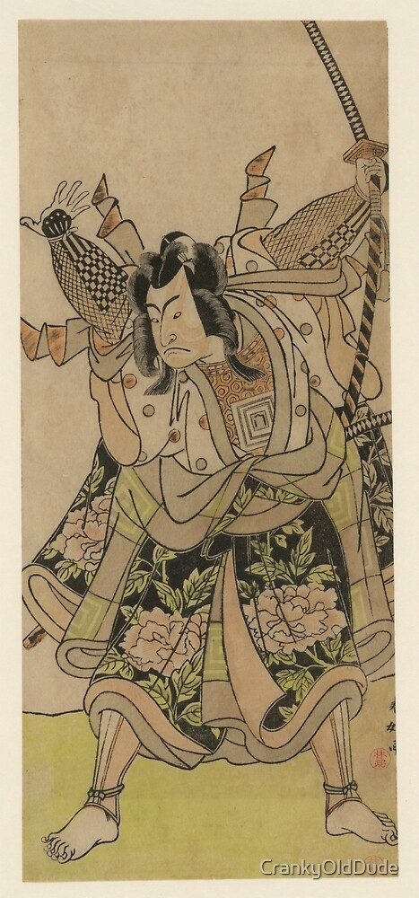 Shunko Katsukawa - Ichikawa Mannosuke - Circa 1780 - Woodcut by CrankyOldDude