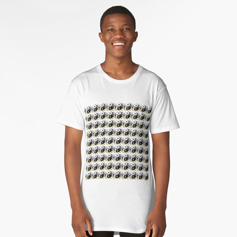 ying yang print Long T-Shirt Front