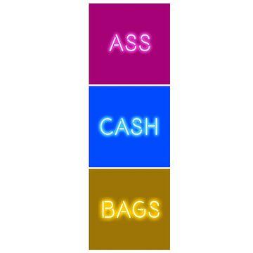 IGGY AZALEA ASS CASH BAGS VERTICAL by ceplasee