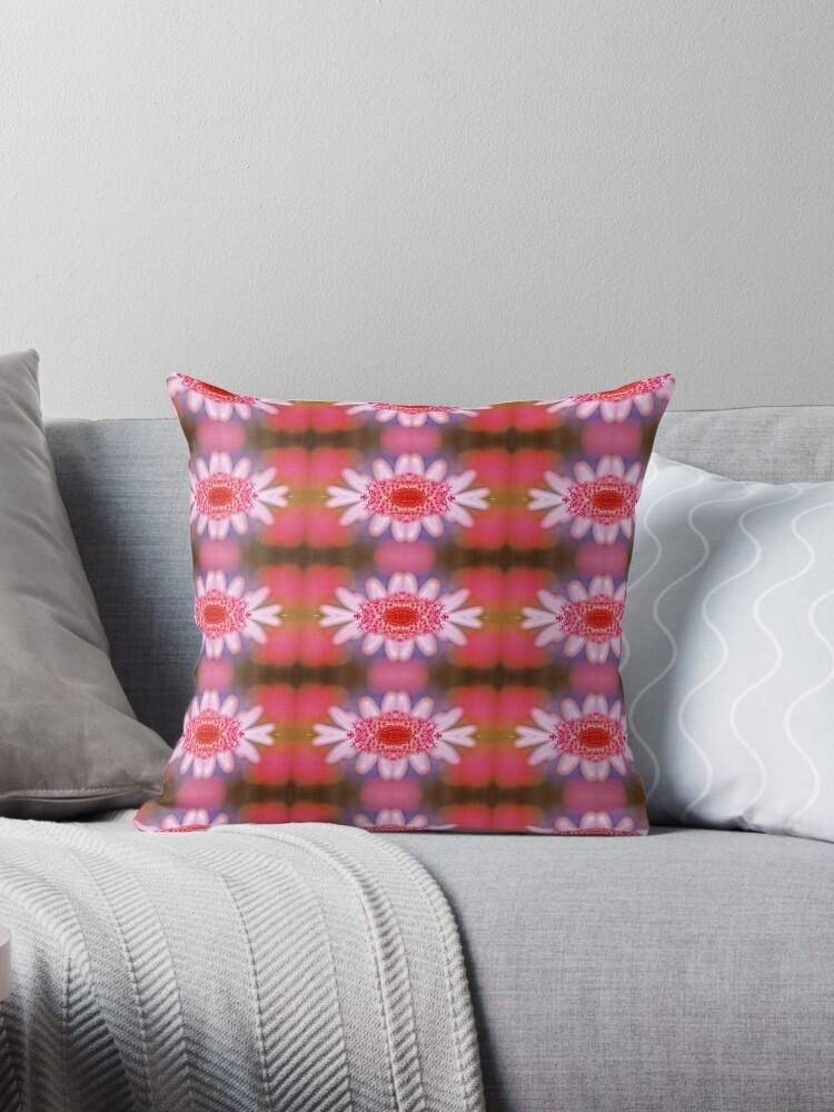Pink Daisy Stripe Pattern by Bloomin' Arty Fashion