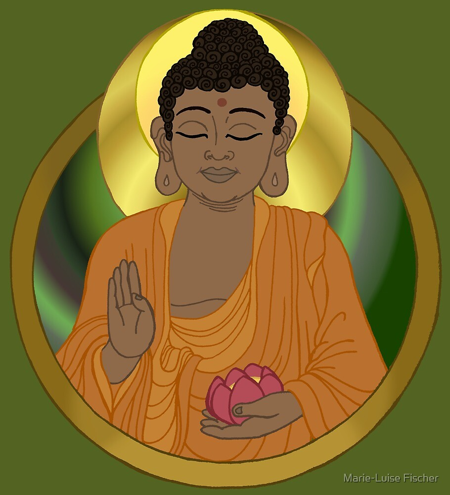 Peaceful Buddha by Marie-Luise Fischer