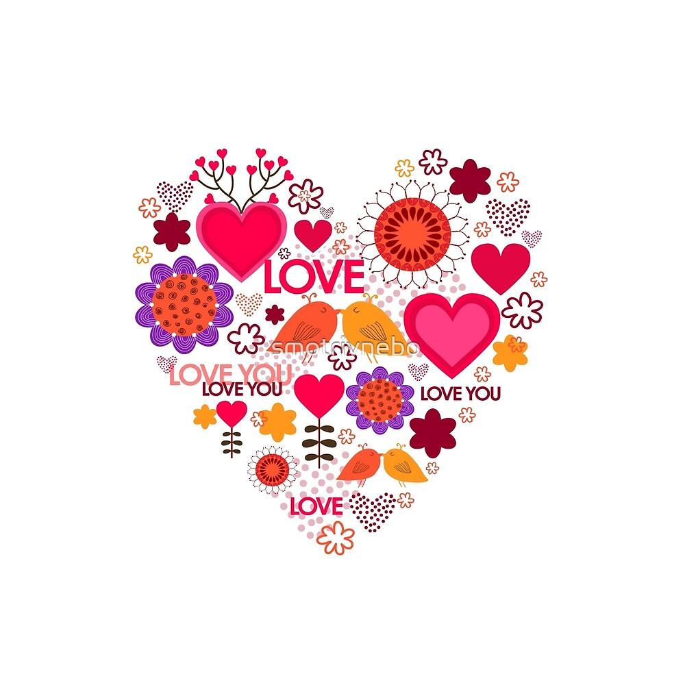 Happy Valentine's Day. Beautiful heart. Love by smotrivnebo