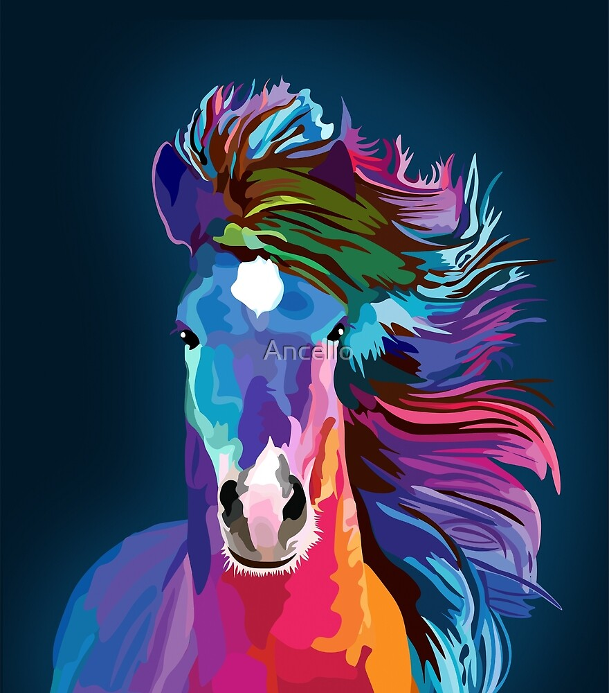 popart horse by Ancello