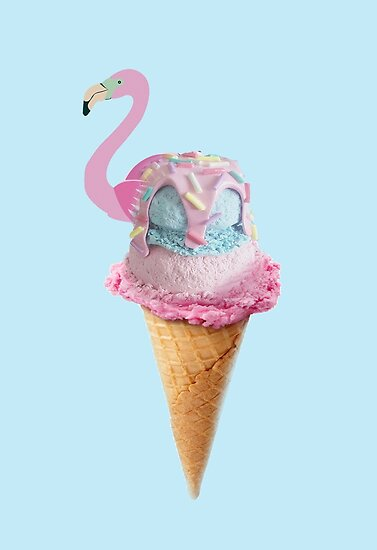 Flamingo Ice Cream by mensijazavcevic