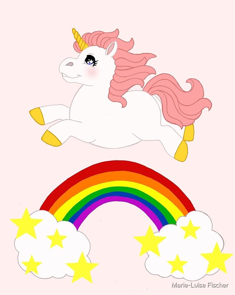 Rainbow Unicorn by Marie-Luise Fischer
