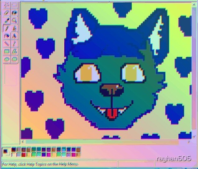 Rainbow Furry MS paint Aesthetic by rayhan606
