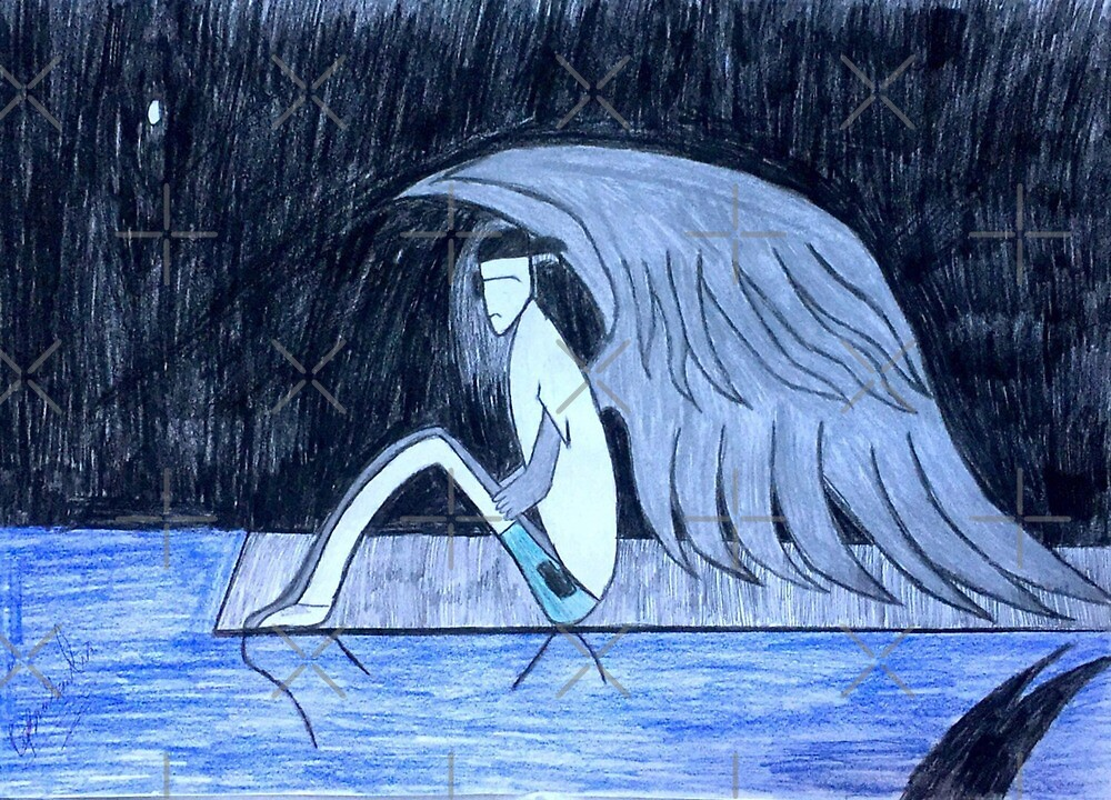 the lonely angel  by Georgepeace18