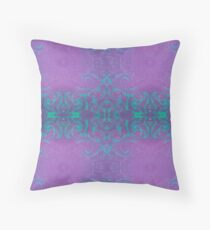 Dreamy turquoise and purple spirals Floor Pillow