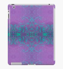 Dreamy turquoise and purple spirals iPad Case/Skin