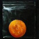On the Ritz - cracker realism food art by LindaAppleArt