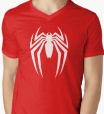 Sharp Spinne Logo T-Shirt mit V-Ausschnitt