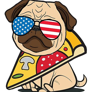 Pug Pizza USA!! by plushism