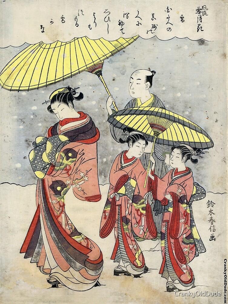 Snow - Harunobu Suzuki - 1767 - woodcut by CrankyOldDude