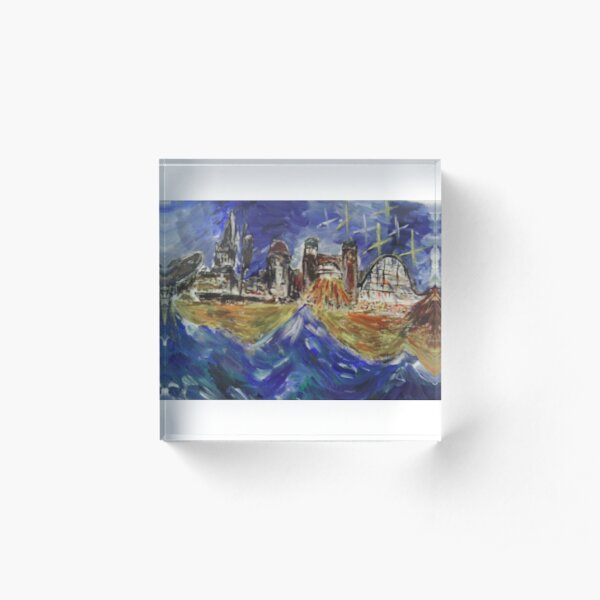 Yarmouth: Ebb and Flow Acrylic Block