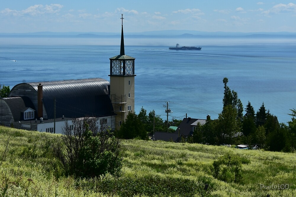 Church view on Saint Lawrence seaway... by Poete100