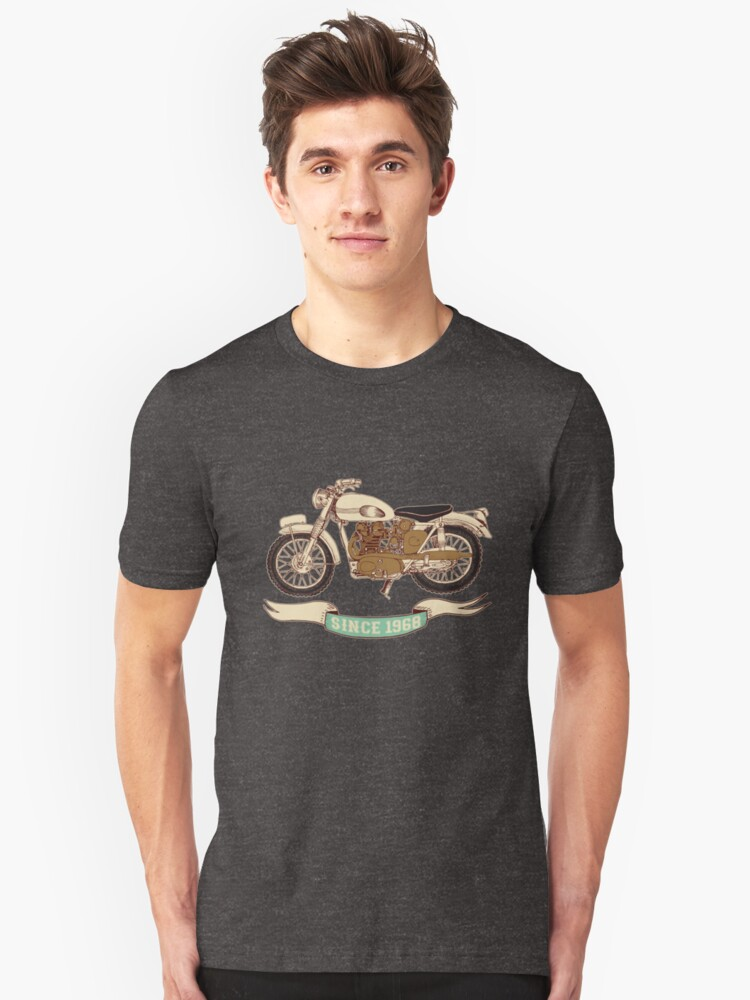 Since 1968 Vintage Motorcycle 50th birthday Unisex T-Shirt Front