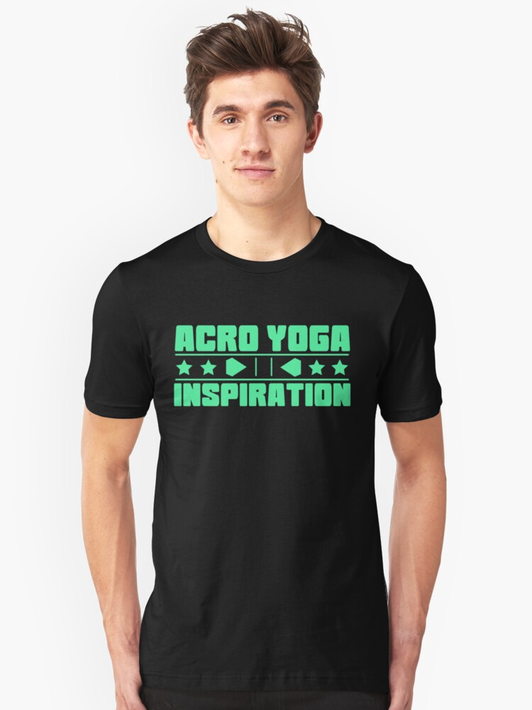 Lovely and Relaxing Acro Yoga Tshirt Design Acro Yoga Inspiration Unisex T-Shirt Front