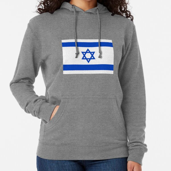 Proud to Be Israeli American On World Map with American Flag Adult Hoodie