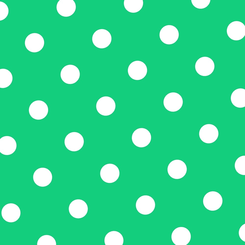 Green and White Polka Dot by AtriumGoods