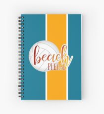 Funny beach quote volleyball Spiral Notebook